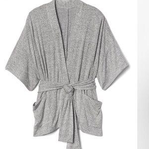 GAP gray spun tie belt sweater size small